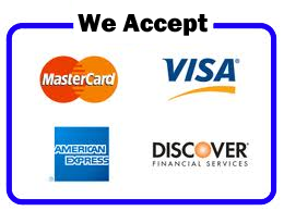 we accept visa mastercard sign paypal here customer